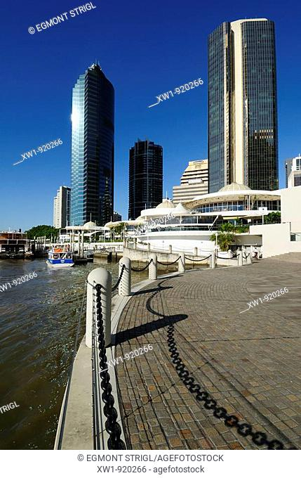 Eagle Street Pier at Brisbane River, Brisbane, Queensland, Australia