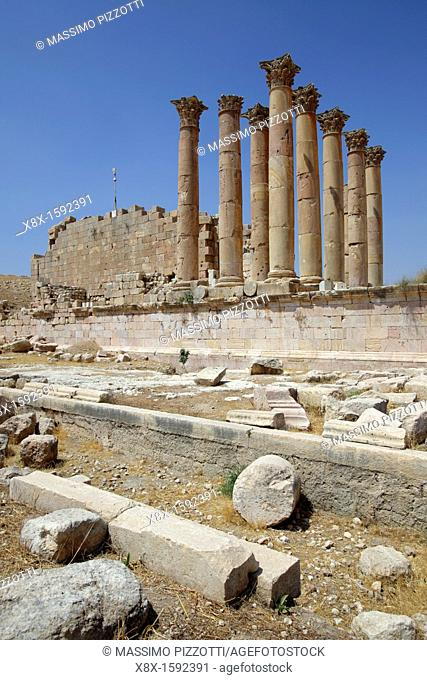 Artemis temple in Jerash, Jordan
