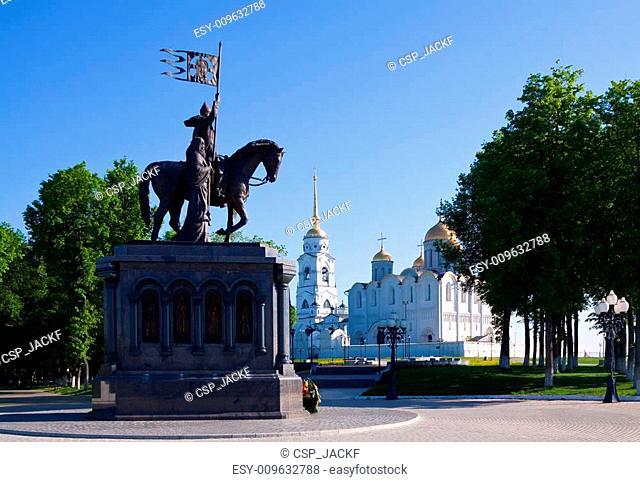 sightseeing of Vladimir in morning