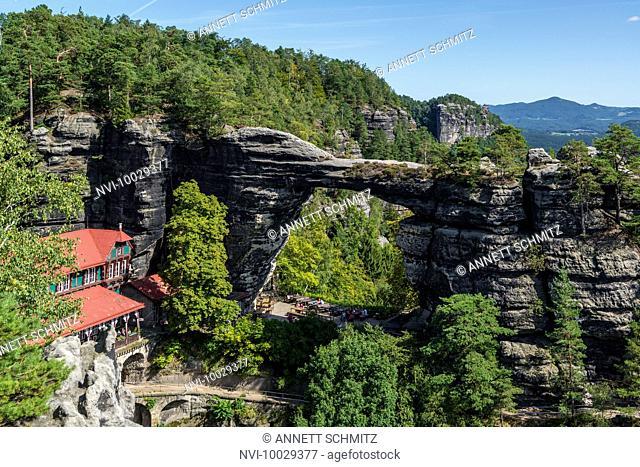Prebischtor, the largest natural sandstone arch in Europe, Bohemian Switzerland National Park, Elbe Sandstone Mountains, Czech Republic