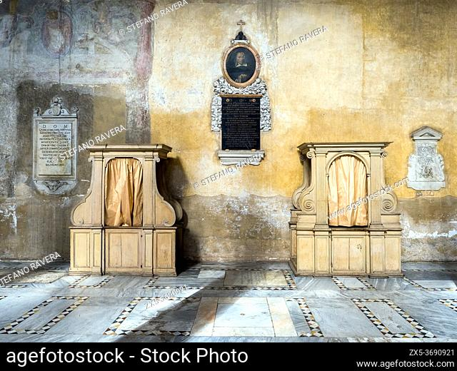 Confessionals in the Basilica of Santa Sabina on the Aventine - Rome, Italy
