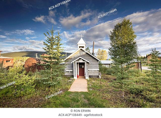 All Saints Anglican Church, part of the Keno City Historical Buildings Walking Tour in Keno City, Yukon, Canada