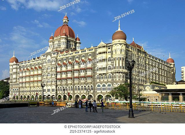Old and new Taj hotel opposite Gateway of India. Colaba Mumbai Maharashtra India