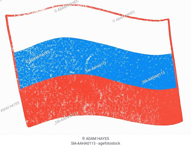 View of russian flag