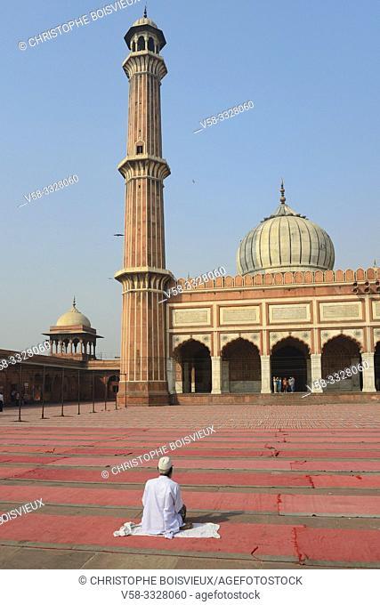 India, Old Delhi, Jama Masjid mosque