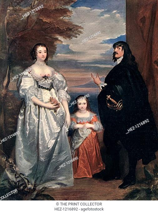 'The Earl and Countess of Derby and Child', 1632-1641 (1910). James, 7th Earl of Derby (1607-1651) and his wife Charlotte (1599-1664) and one of their four...