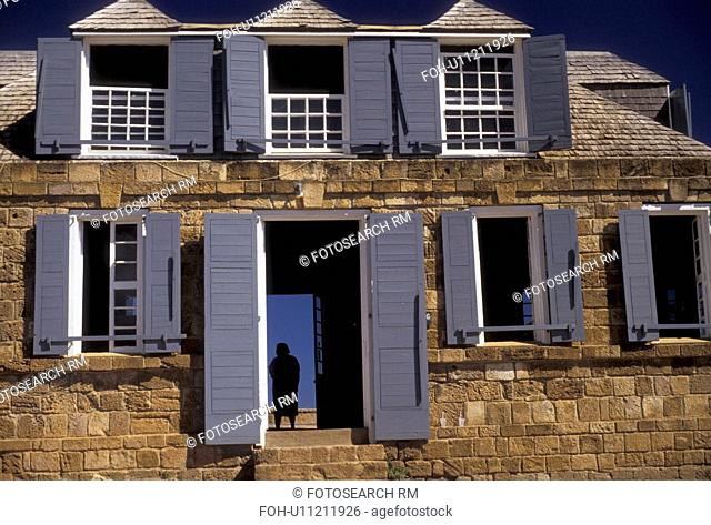Antigua, Caribbean, Caribbean Islands, Historic Shirley Heights lookout post on English Harbour on the island of Antigua (a British Commonwealth member)