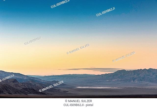 Sunset over Death Valley National Park, California, USA
