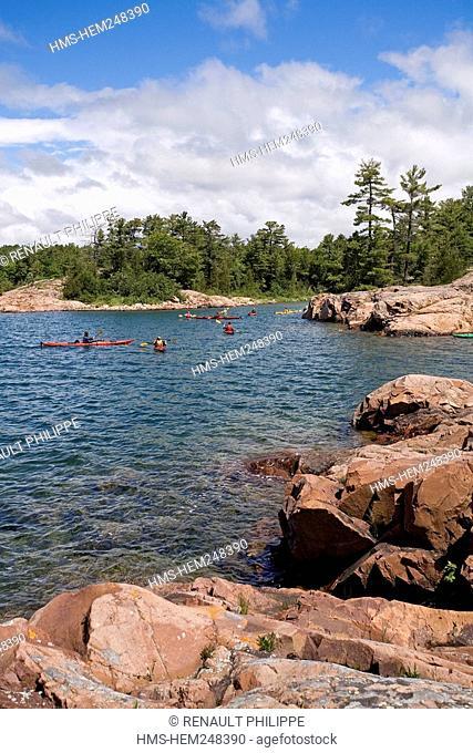 Canada, Ontario Province, Georgian Bay, Killarney, sea kayaking