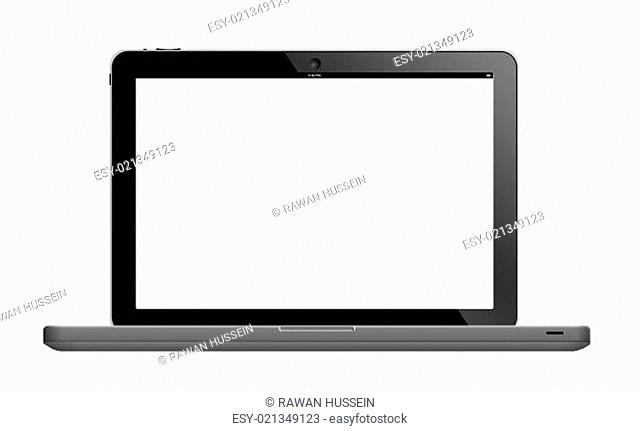 Laptop with blank screen
