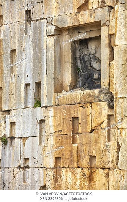 Ka'ba-ye Zartosht, Cube of Zoroaster, Zoroasterâ. . s Kaba, 6th century BC, Naqsh-e Rostam, necropolis, Fars Province, Iran