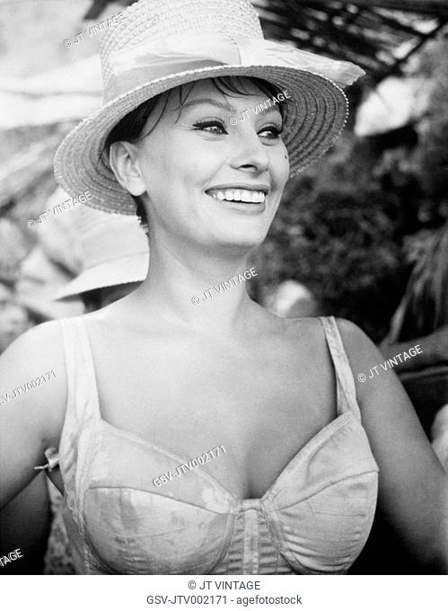 Sophia Loren, On-Set of the Film, It Started in Naples, 1960