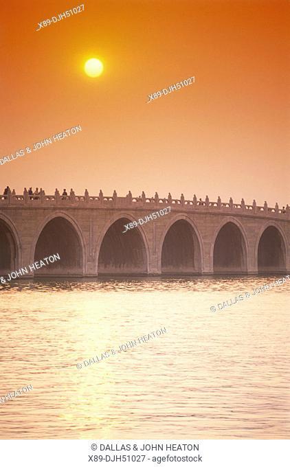 China, Beijing, Summer Palace, 17 Arch Bridge