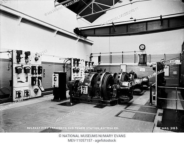 Belfast City Tramways, Sub Power Station, Antrim Rd. - a view of the interior of the sub power station. (Location: Northern Ireland: County Antrim: Belfast)