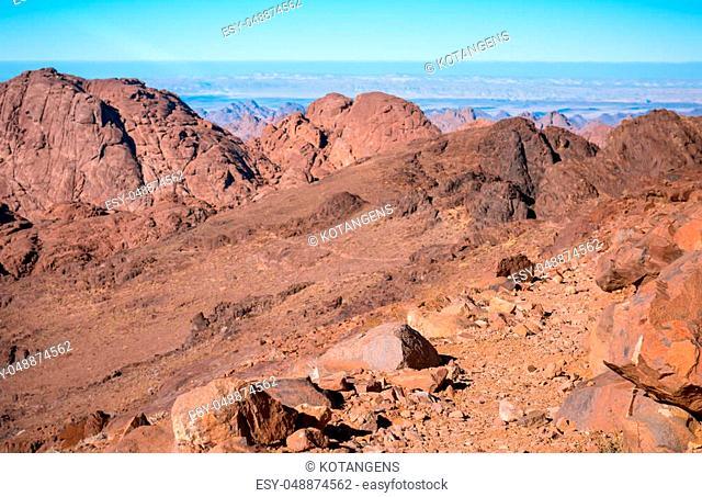 Desert landscape background global warming concept Sinai, Egypt