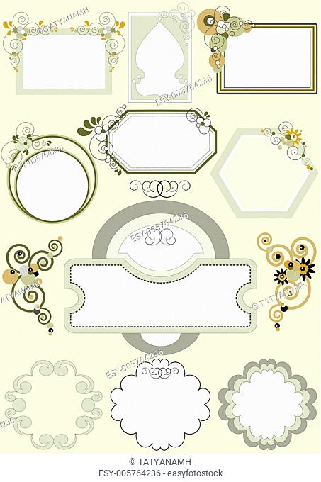 Options for frames with different patterns of curves and circles