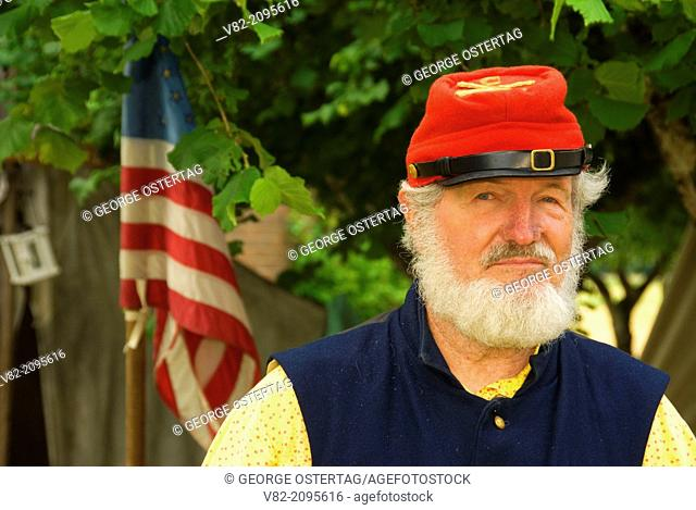 Artilleryman, Civil War Re-enactment, Willamette Mission State Park, Oregon