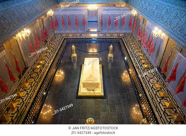 mausoleum of Mohammed V in Rabat, Maroc