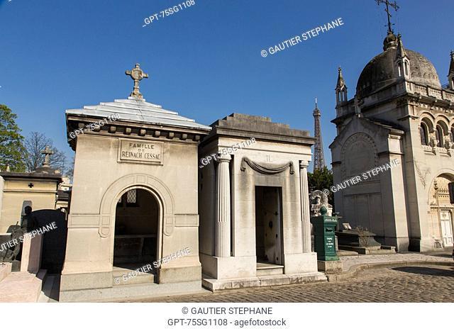 TOMBS, PASSY CEMETERY, 16TH ARRONDISSEMENT, PARIS (75), ILE-DE-FRANCE, FRANCE