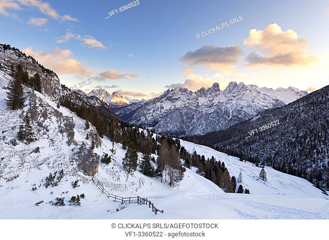 View from Vallandro refuge, Dolomites, Braies, South Tyrol. Bolzano province, Italy