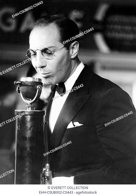 Zeppo Marx speaks at the Premier of BILL OF DIVORCEMENT. At the Hill Street Theater in Los Angeles, Oct. 24, 1933. (CSU-2015-11-1485)