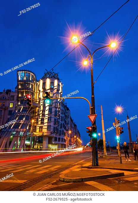 Dancing House, Tancici dum, Jiraskovo Street, Prague, Czech Republic, Europe