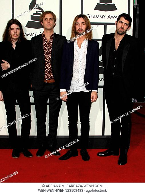 58th Annual GRAMMY Awards 2016 - Arrivals held at the Staples Center Featuring: Dominic Simper, Jay Watson, Kevin Parker