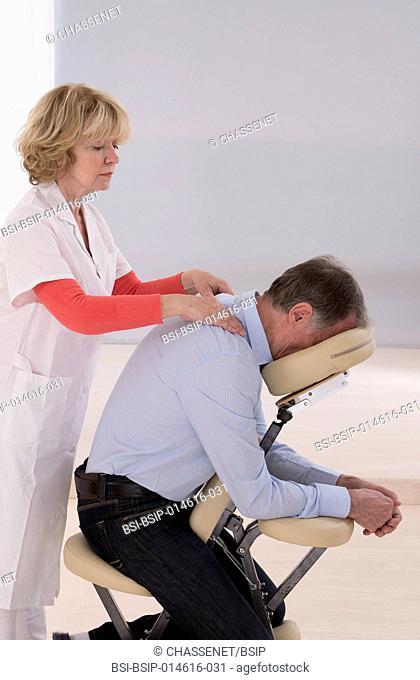 Senior man receiving massage