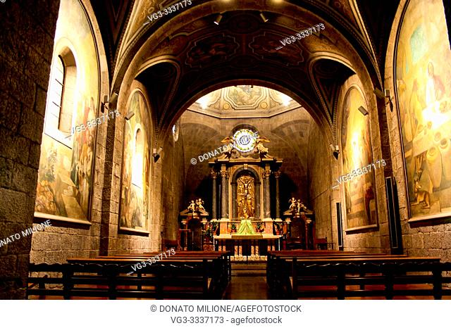 Figueres, L'Alt Empordà, Girona, Catalunya, Spain. Església de Sant Pere or Iglesia de San Pedro (St. Peter's Church), Roman Catholic parish church built in...
