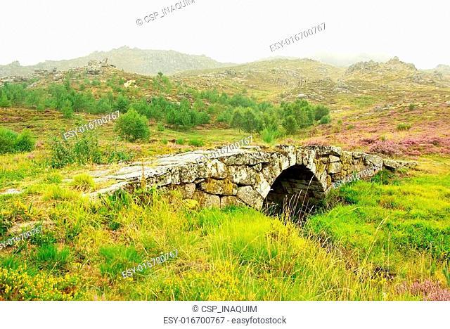 Old Roman bridge, Castro de Laboreiro, north of Portugal