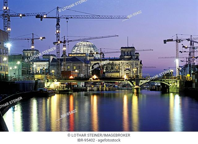 Building site Reichstag building, Berlin, Germany