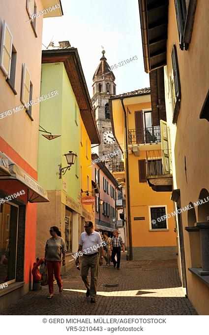 Ascona at the Lago Maggiore is famous among swiss and german tourists