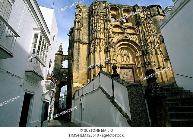 Spain, Andalousia, Arcos de la Frontera, Santa Maria Asuncion church