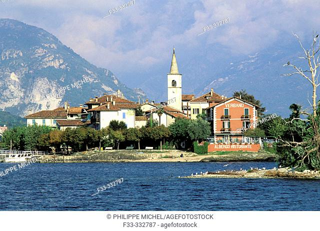 Isola dei Pescatori, Borromean Islands. Lake Maggiore. Piedmont, Italy