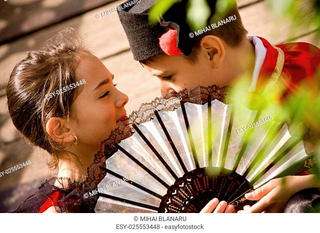 Lovely young couple having a discussion. More images with the same models