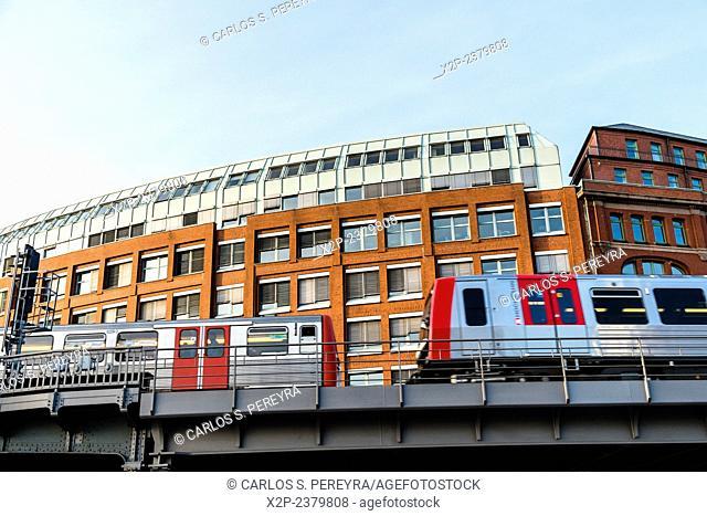 U-Bahn, metro of Hamburg, Germany, Europe