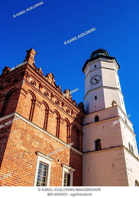 Town Hall at Main Market Square, Sandomierz, Swietokrzyskie Voivodeship, Poland