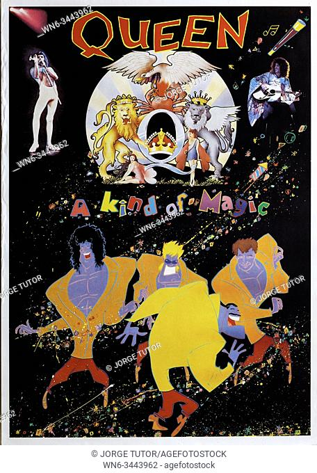 Queen A kind of Magic promo Musical concert poster