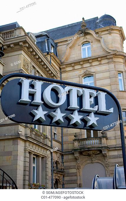 4 stars hotel sign. Strasbourg. Alsace. France