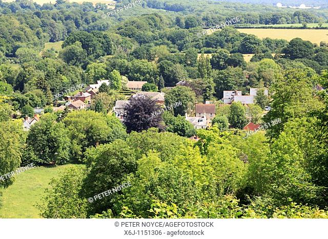 View of Selborne Village from the top of the zig-zag path