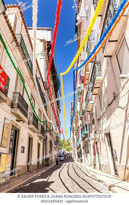 Street in the Barrio Alto, Lisboa, Portugal