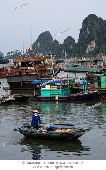 Halong Bay, Vietnam, fishing village, Asia