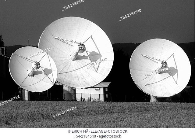 Earth station of Deutsche Telekom in Raisting