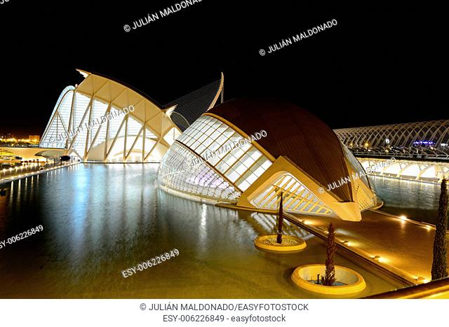 Heisférico and Science Museum Principe Felipe, City of Arts and Sciences in Valencia, Spain