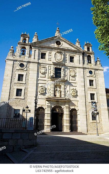 Baroque convent of Santa Teresa (17th century), Avila (city added to the Unesco's World Heritage List in 1985). Castilla-Leon, Spain