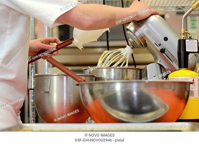 Baker Using Mixer