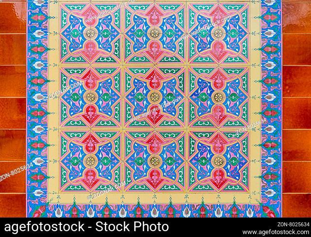 Azulejo portuguese ceramic tiles background