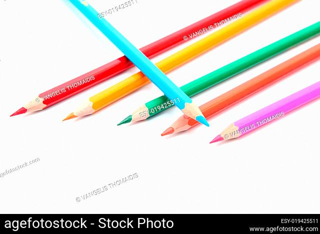 six color pencils