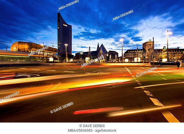 Architecture, outside view, Augustusplatz (square), Saxon, Leipzig, Germany, Europe