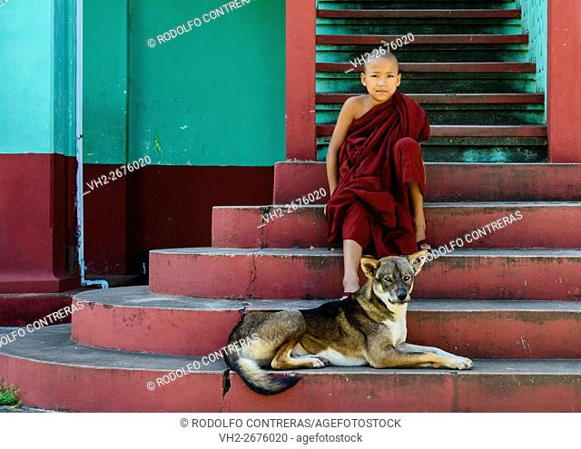 Novice monk at the monastery in Nyaungshwe, Myanmar